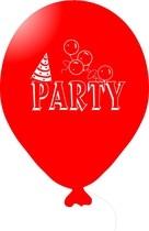 Balónky PARTY červené 1 ks