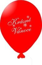 Vánoční balónky červené 1 ks
