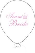 Team Bride balónek bílý