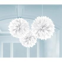 Závěsné dekorace bílé 3 ks 40 cm