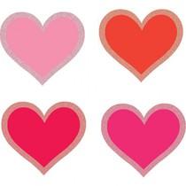 Papírová srdce s glitry 50 ks 6 cm