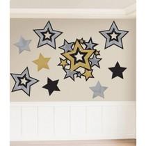 Závěsné dekorace hvězdy 30 ks