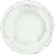 Balónek kruh White Metallic