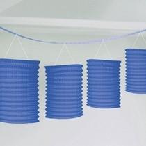 Lampionové girlandy modré 3,65m