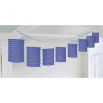 Lampionové girlandy fialové 3,65m