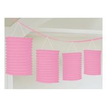 Lampionové girlandy světle růžové 3,65m
