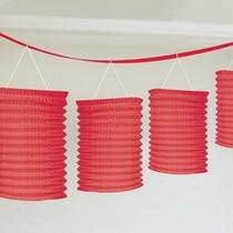 Lampionové girlandy červené 3,65m