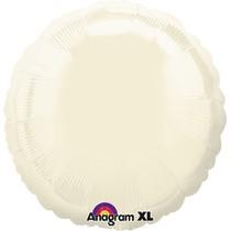 Balónek kruh Ivory Iridescent Pearl