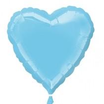 Balonek foliový srdíčko Iridescent Pearl Lite Blue