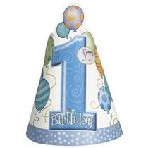 Čepičky 1. narozeniny klučičí 8ks