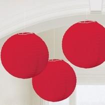 Lampiony červené 3 ks 24 cm