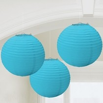 Lampiony světle modré 3 ks 24 cm