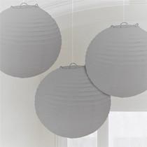 Lampiony 3 ks stříbrné 24 cm