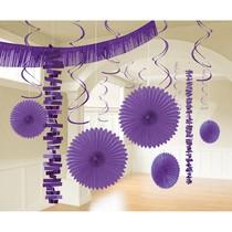 Závěsné dekorace fialové 18 ks
