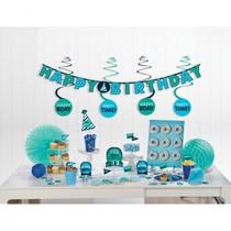 Narozeniny party set zeleno-modrý 37 ks