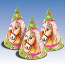 Koně 6ks čepice