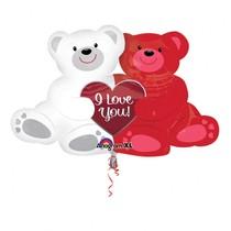 Balónek foliový medvídci I Love You 88 cm x 58 cm