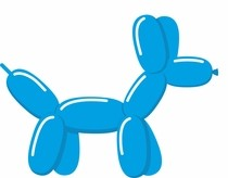 Tvarovací balonek modrý pastel blue