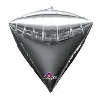 Diamant stříbrný balónek foliový 38 x 43 cm