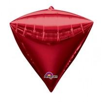 Diamant červený balónek foliový 38 x 43 cm