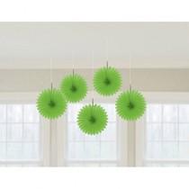 Závěsné dekorace zelené 5 ks 15,2 cm