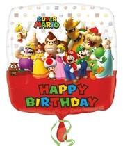 Mario Bros balónek šťastné narozeniny 43 cm