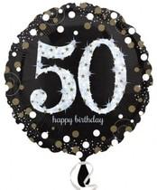 Balónek foliový 50. narozeniny 43 cm