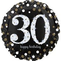 Balónek fóliový číslo 30 narozeniny 71 cm