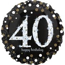 Balónek fóliový číslo 40 narozeniny 71 cm