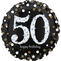 Balónek fóliový číslo 50 narozeniny 71 cm