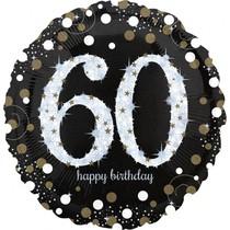 Balónek fóliový číslo 60 narozeniny 71 cm