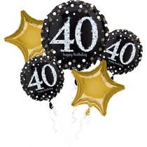 40. narozeniny balónky sada 5 ks