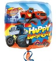 Blaze foliový balónek šťastné narozeniny 43cm