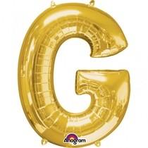 Písmena G zlaté foliové balónky 81 cm x 63 cm