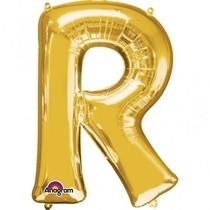 Písmena R zlaté foliové balónky 81 cm x 58 cm