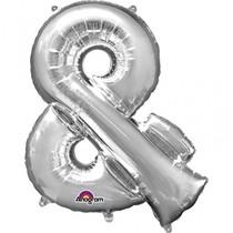 Symbol & stříbrné foliové balónky 96 cm x 76 cm