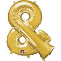 Symbol & zlaté foliové balónky 96 cm x 76 cm
