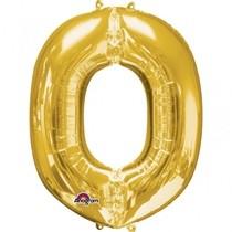 Písmena O zlaté foliové balónky 33 cm x 25 cm
