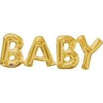 BABY foliový balónek zlatý 66cm x 22cm