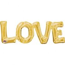 LOVE foliový balónek zlatý 63cm x 22cm
