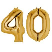 Balónky fóliové narozeniny číslo 40 zlaté 86 cm