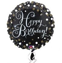 Šťastné narozeniny foliový balónek 43 cm