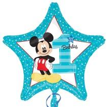 Mickey 1. narozeniny foliový balónek 43cm
