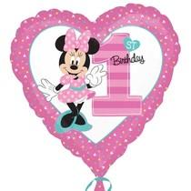 Minnie balónek 1. narozeniny 43cm