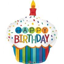 Balónek narozeniny dort 73 cm x 91 cm