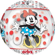 Minnie foliový balónek kulatý 38cm x 40cm