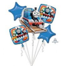 Mašinka Tomáš balónky sada 5 ks