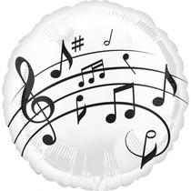 Balónek hudba - noty 43 cm