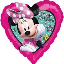 Minnie balónek srdíčko narozeniny 43 cm