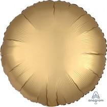 Balónek kruh satén zlatý